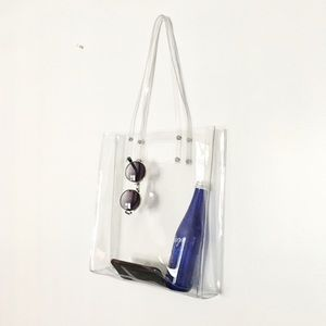 Handbags - CLEAR PVC SHOPPER
